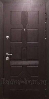 Стальная дверь с отделкой мдф шоколадно — коричневая