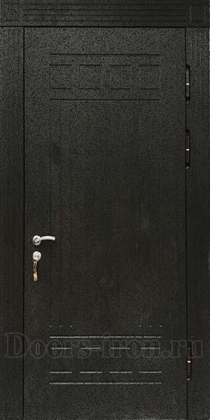 Черная входная дверь с отделкой мдф