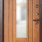 Входная дверь с отделкой мдф желто-оранжевого цвета