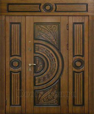 Широкая элитная входная дверь