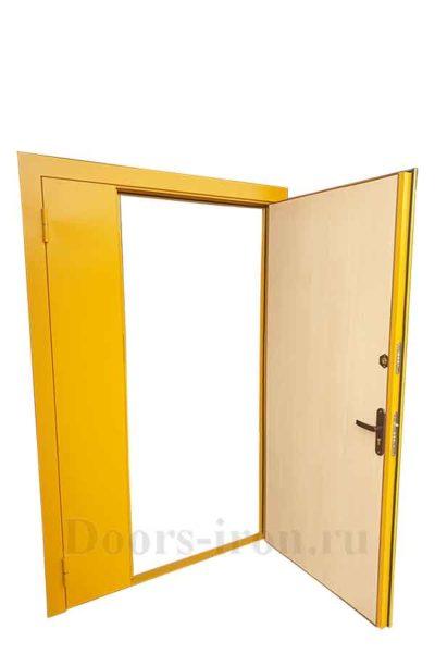 Дверь внутренняя противопожарная желтая, ламинированная внутри