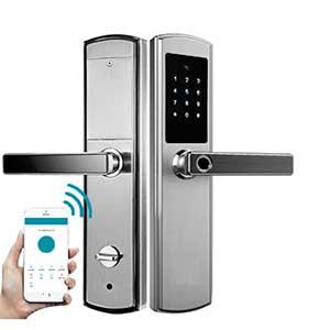 Дверной замок биометрический врезного типа Selock Hotel FP