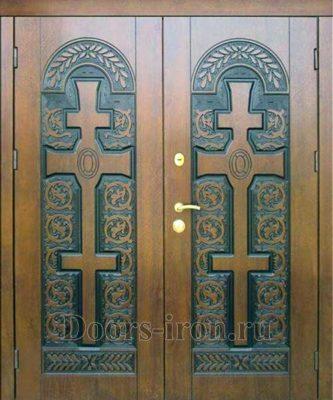 Входная дверь массив ясеня