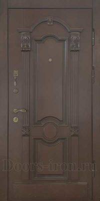 Входная элитная дверь с отделкой массив ясеня