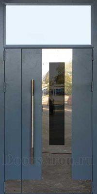 Входная металлическая дверь с фрамугой сверху